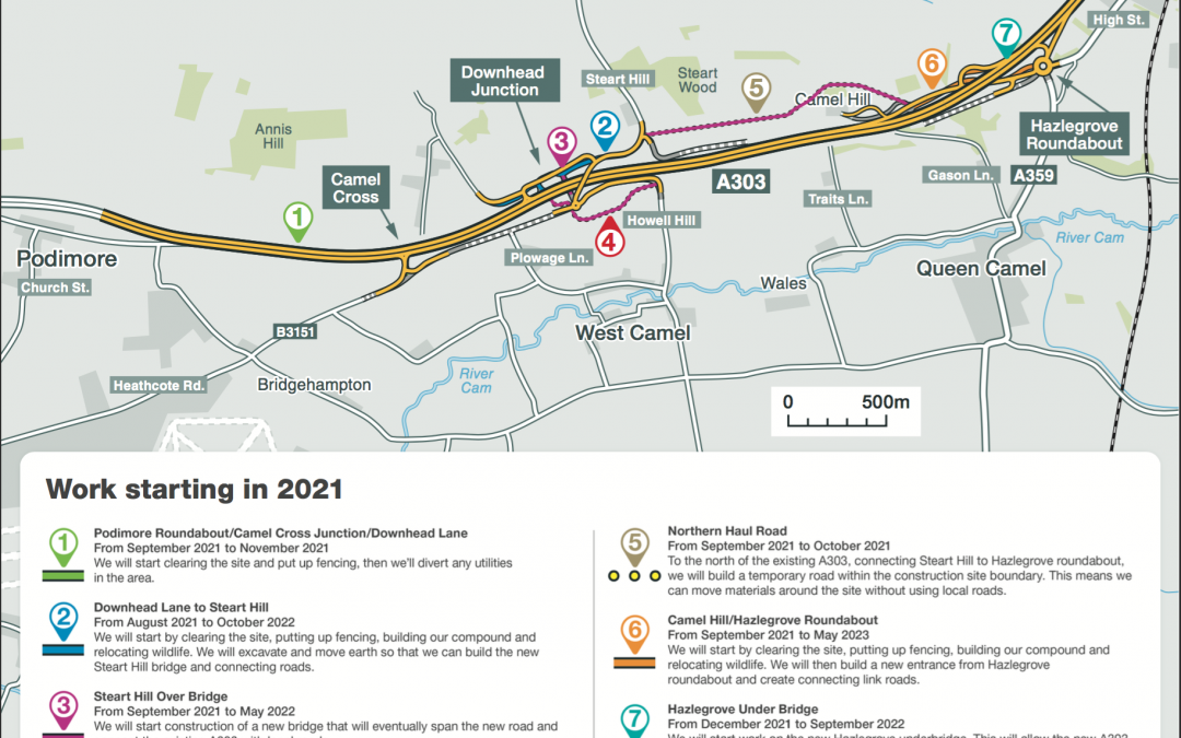 Highways England to hold A303 Sparkford to Ilchester virtual exhibition this week